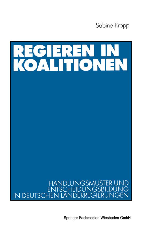 Regieren in Koalitionen als Buch