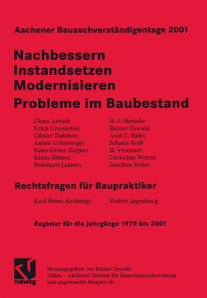 Aachener Bausachverständigentage 2001 als Buch