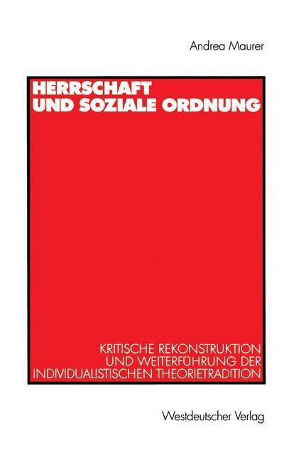 Herrschaft und soziale Ordnung als Buch