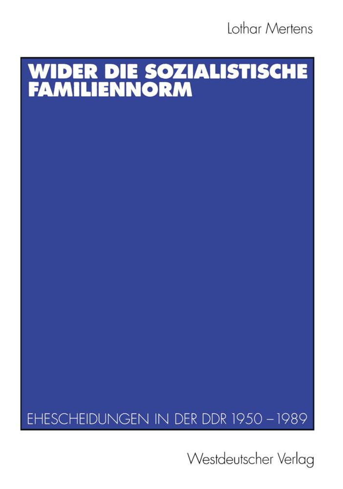 Wider die sozialistische Familiennorm als Buch