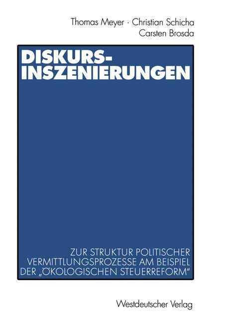 Diskurs-Inszenierungen als Buch