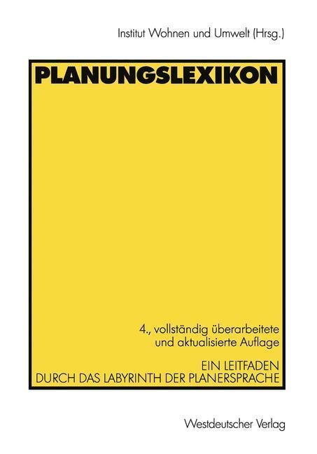 Planungslexikon als Buch