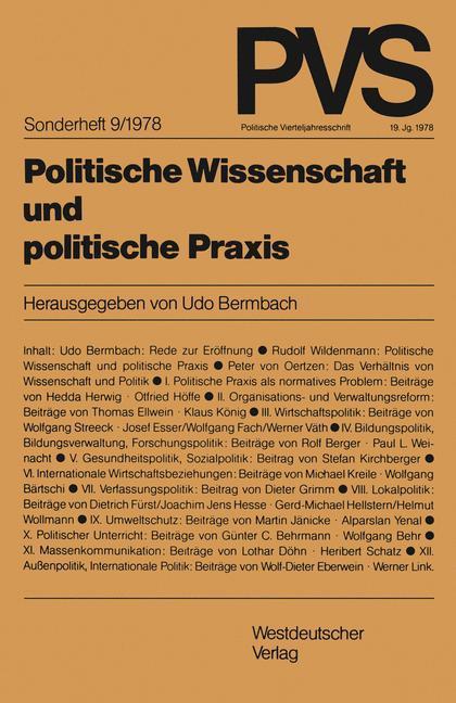 Politische Wissenschaft und politische Praxis als Buch