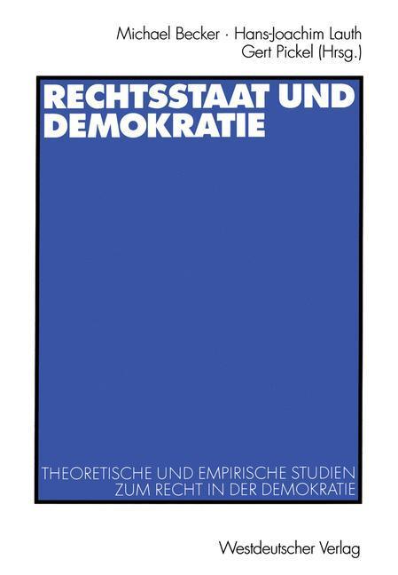 Rechtsstaat und Demokratie als Buch