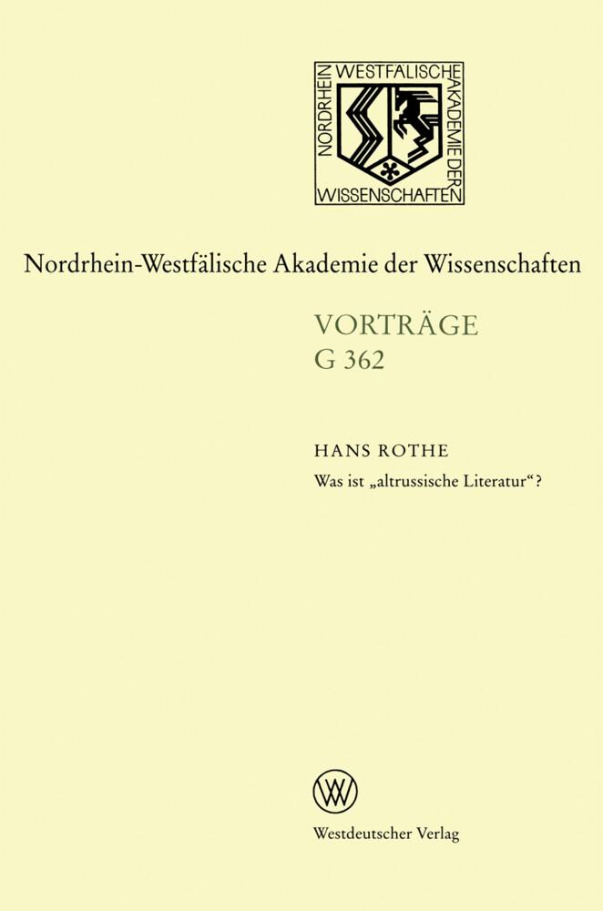 """Was ist """"altrussische Literatur""""? als Buch"""