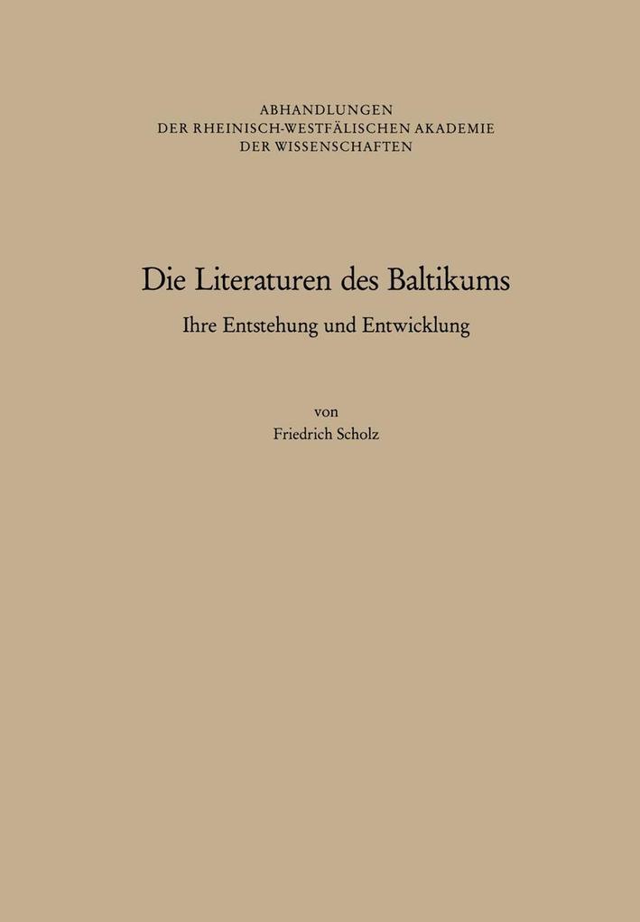 Die Literaturen des Baltikums als Buch