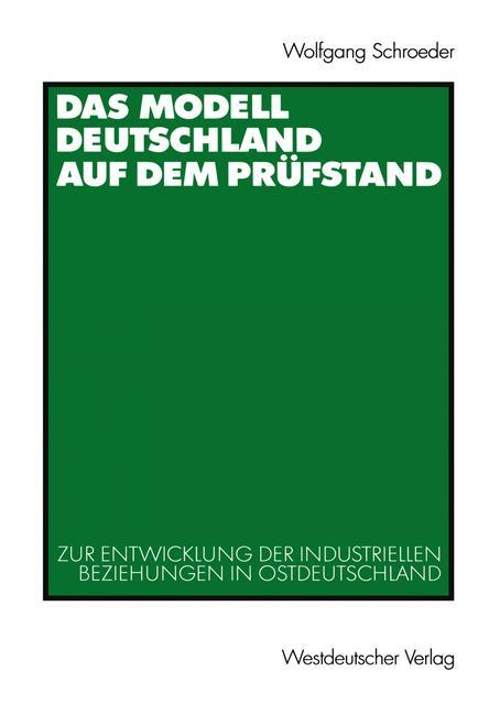 Das Modell Deutschland auf dem Prüfstand als Buch