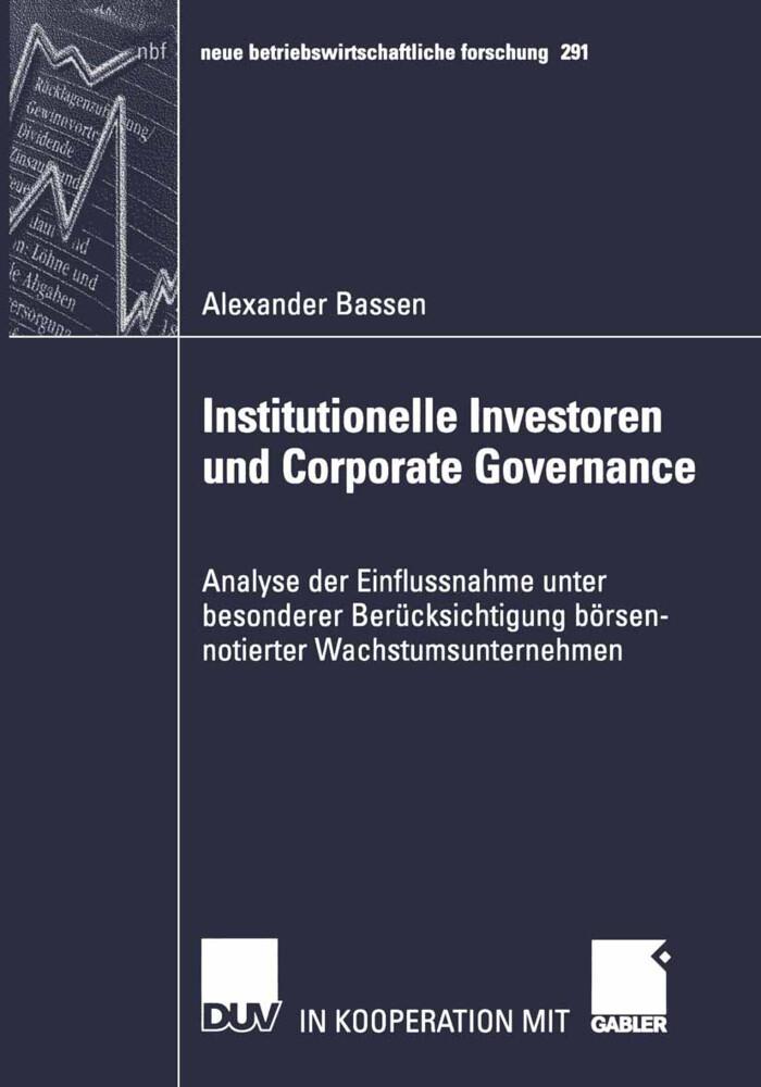 Institutionelle Investoren und Corporate Governance als Buch
