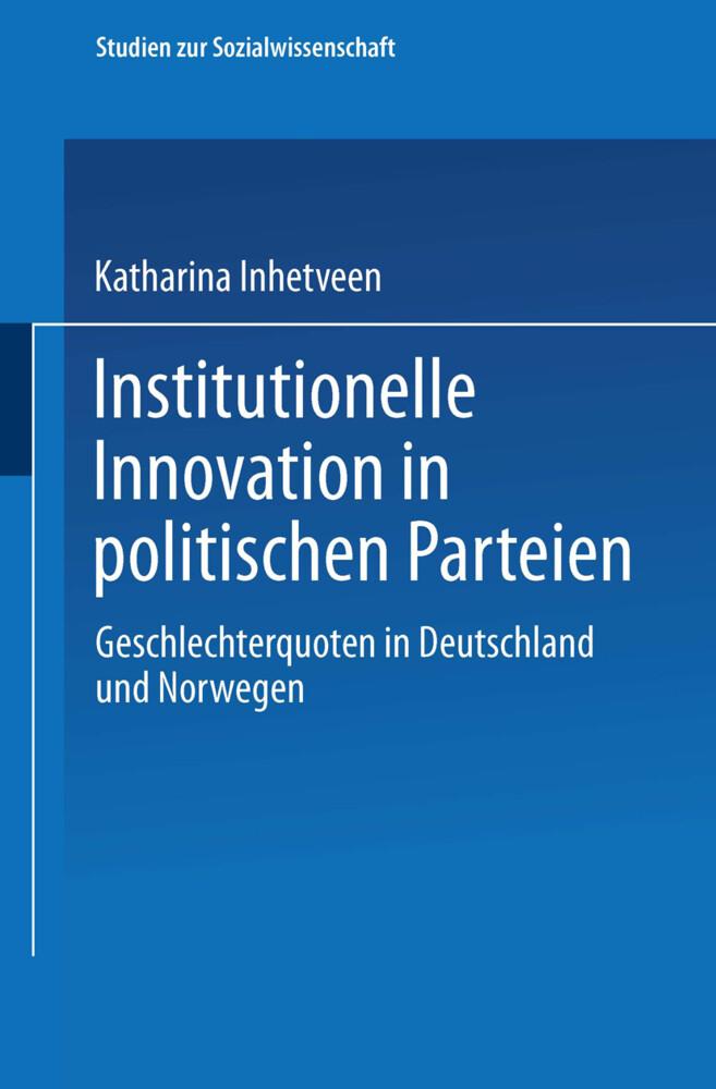 Institutionelle Innovation in politischen Parteien als Buch