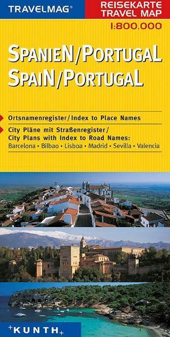 KUNTH Reisekarte Spanien - Portugal 1 : 800 000 als Buch