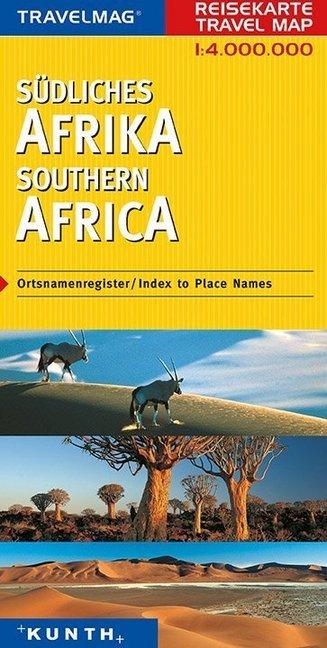 KUNTH Reisekarte Südliches Afrika 1 : 4 000 000...