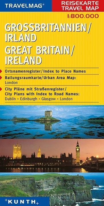 KUNTH Reisekarte Grossbritannien - Irland 1 : 800 000 als Buch