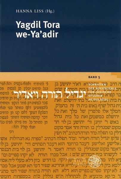 Yagdil Tora we-Ya'adir als Buch