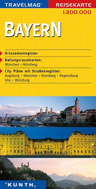 KUNTH Reisekarte Bayern 1 : 300 000 als Buch