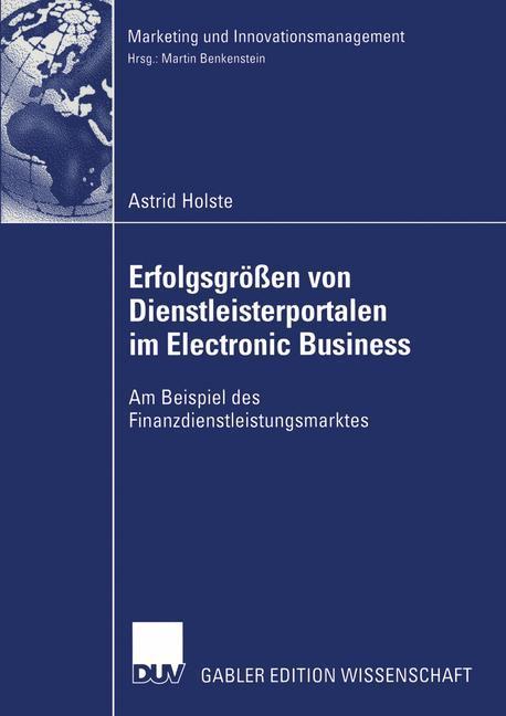 Erfolgsgrößen von Dienstleisterportalen im Electronic Business als Buch
