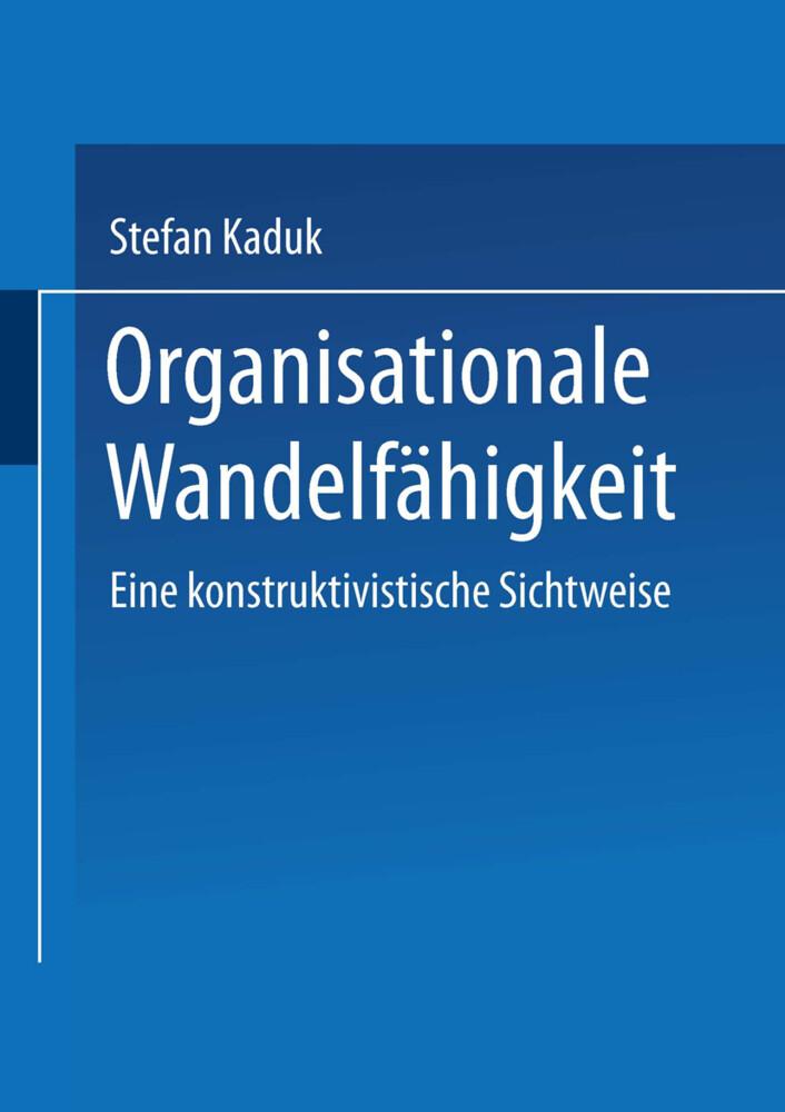 Organisationale Wandelfähigkeit als Buch