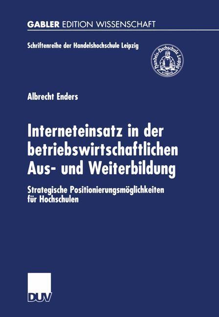 Interneteinsatz in der betriebswirtschaftlichen Aus- und Weiterbildung als Buch