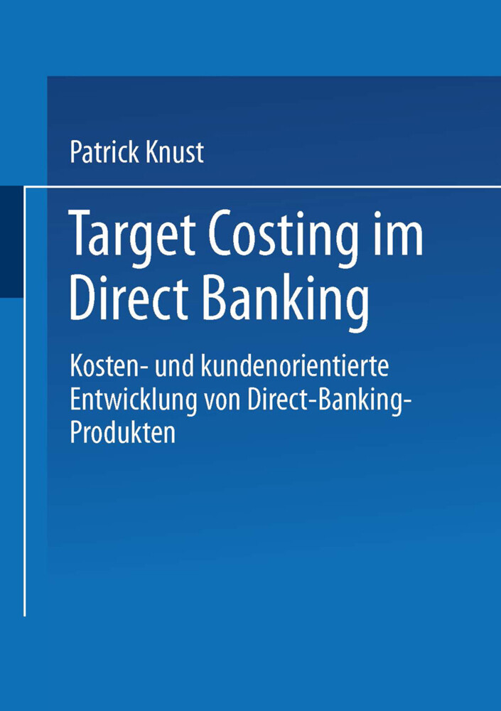 Target Costing im Direct Banking als Buch