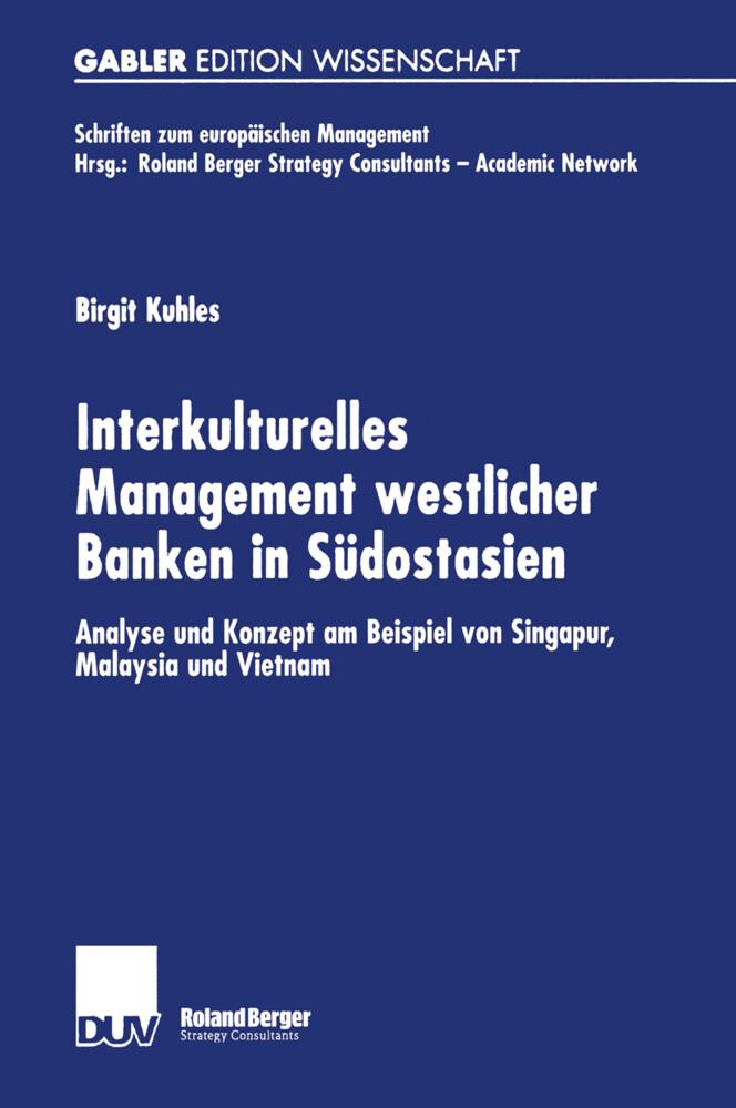 Interkulturelles Management westlicher Banken in Südostasien als Buch