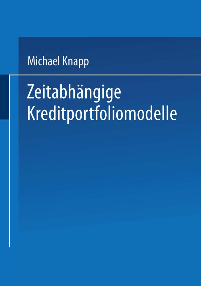 Zeitabhängige Kreditportfoliomodelle als Buch