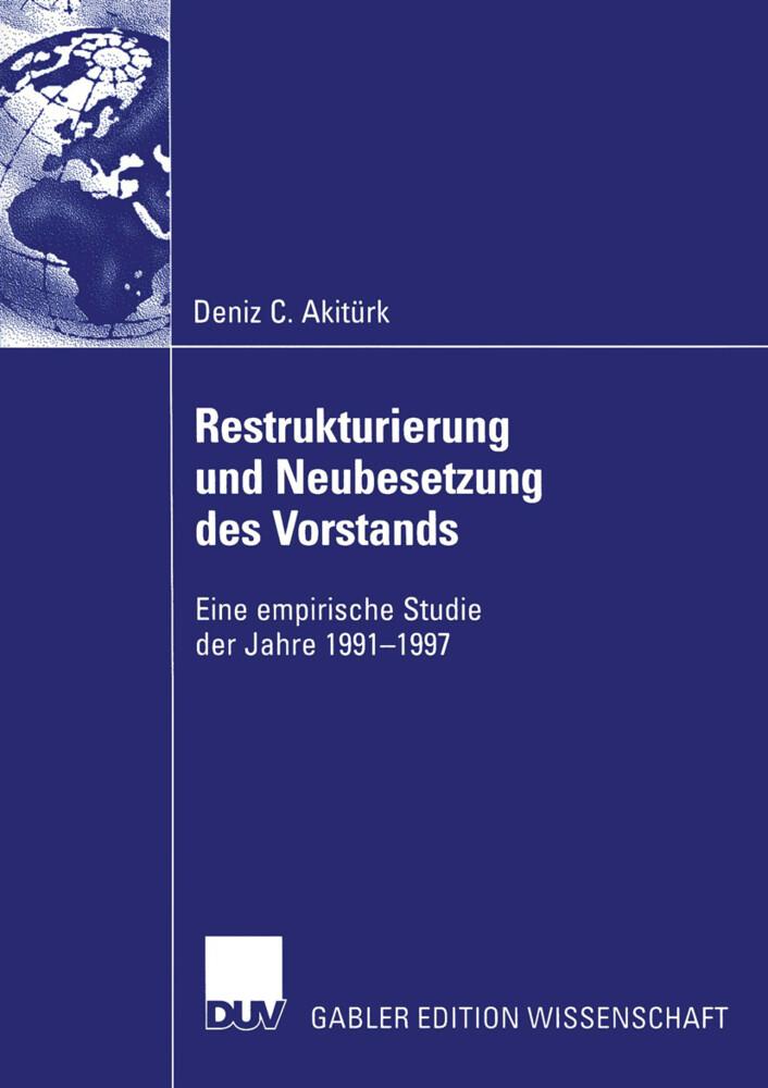 Restrukturierung und Neubesetzung des Vorstands als Buch
