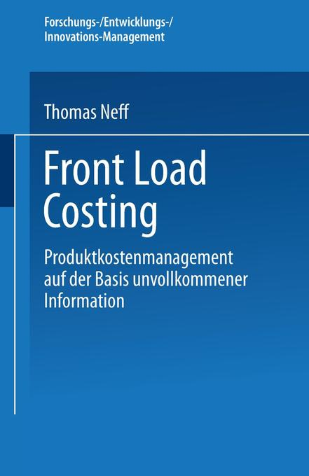 Front Load Costing als Buch von Thomas Neff