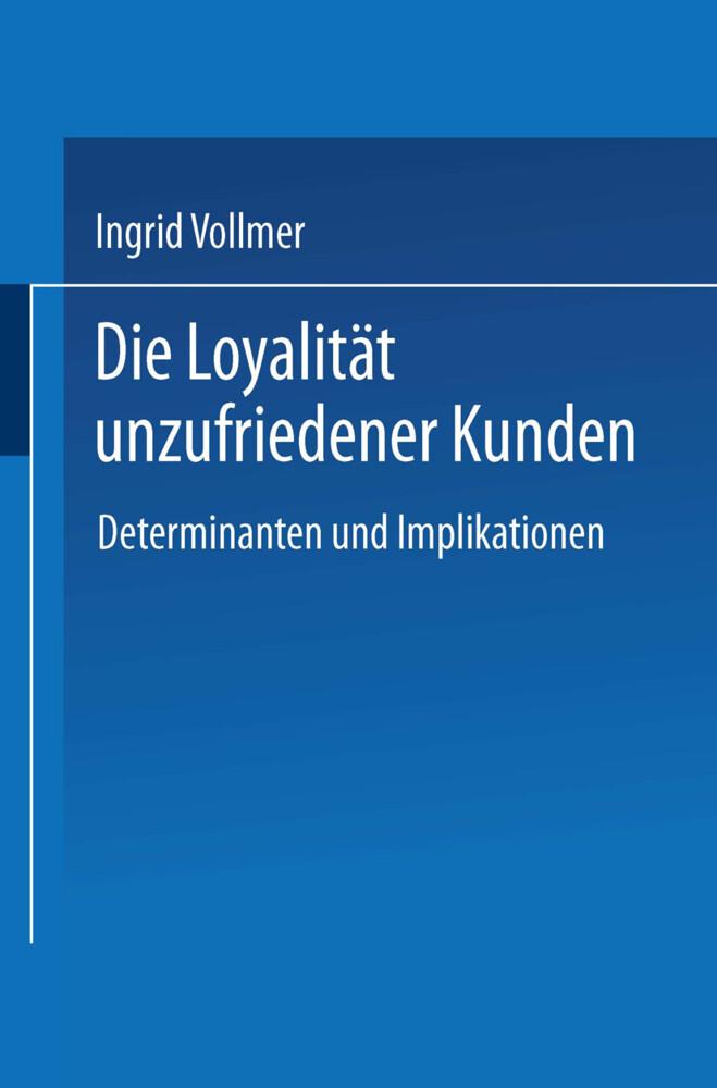 Die Loyalität unzufriedener Kunden als Buch