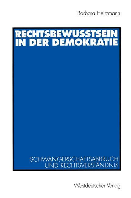 Rechtsbewusstsein in der Demokratie als Buch