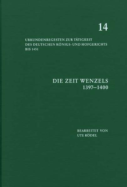 Die Zeit Wenzels (1397-1400) als Buch