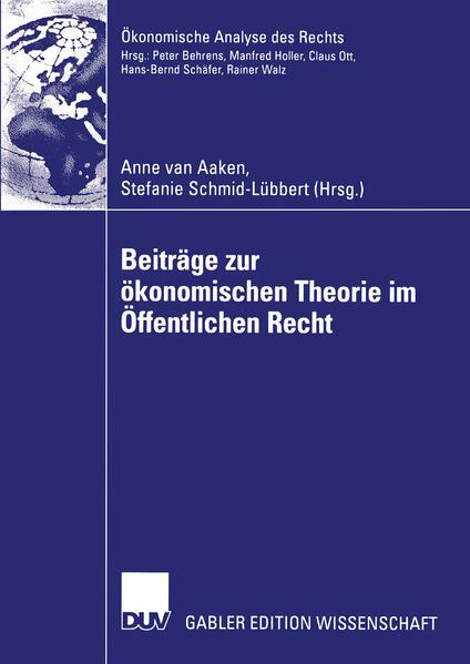 Beiträge zur ökonomischen Theorie im Öffentlichen Recht als Buch
