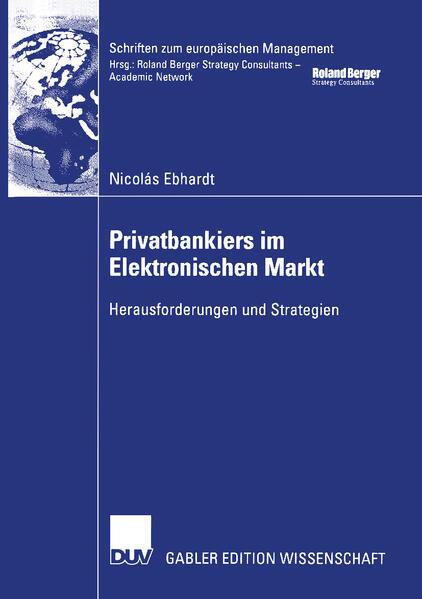 Privatbankiers im Elektronischen Markt als Buch