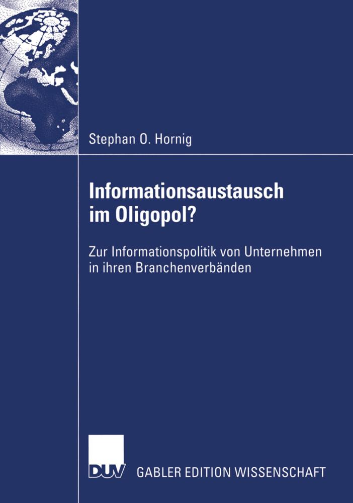 Informationsaustausch im Oligopol? als Buch