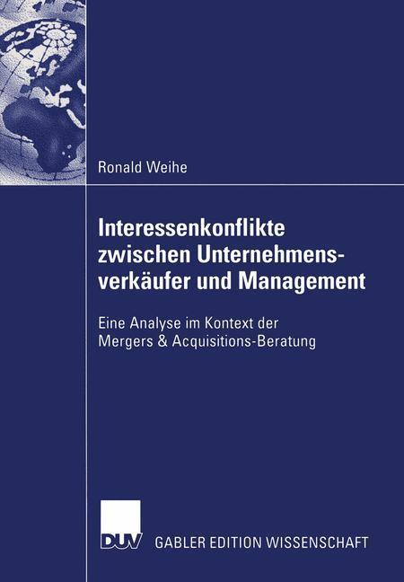 Interessenkonflikte zwischen Unternehmensverkäufer und Management als Buch
