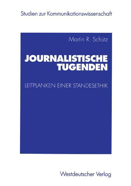 Journalistische Tugenden als Buch
