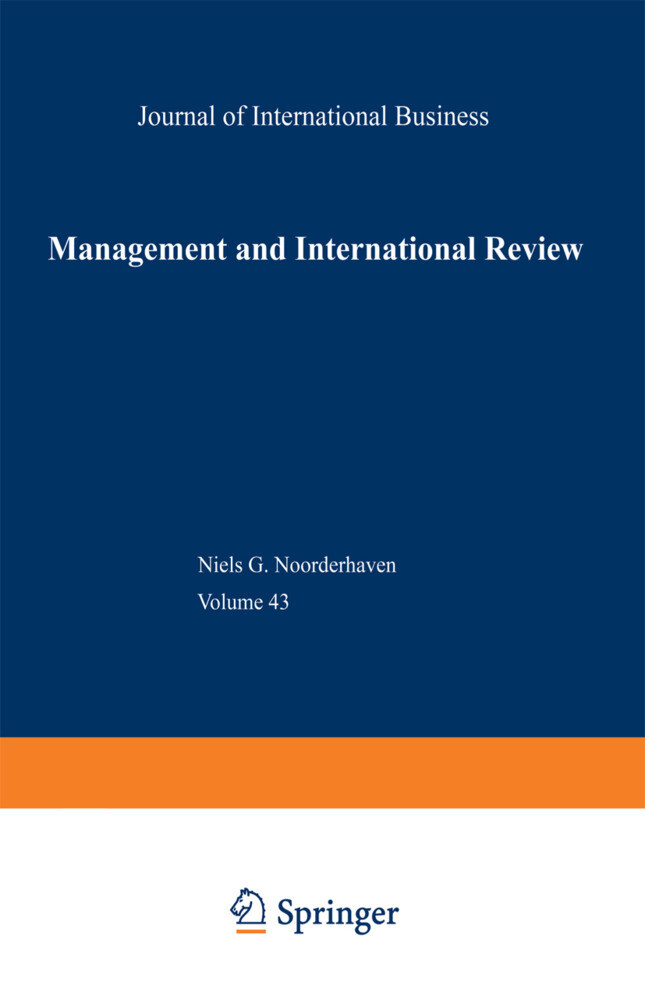 Management and International Review als Buch