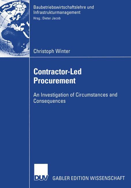 Contractor-Led Procurement als Buch