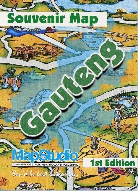 Gauteng Souvenir Map als Buch