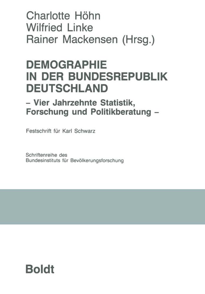Demographie in der Bundesrepublik Deutschland als Buch
