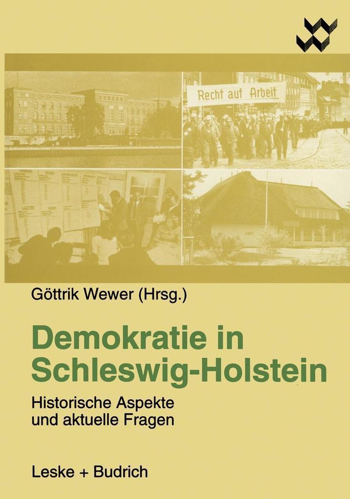 Demokratie in Schleswig-Holstein als Buch