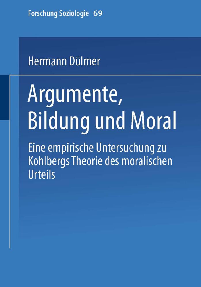 Argumente, Bildung und Moral als Buch