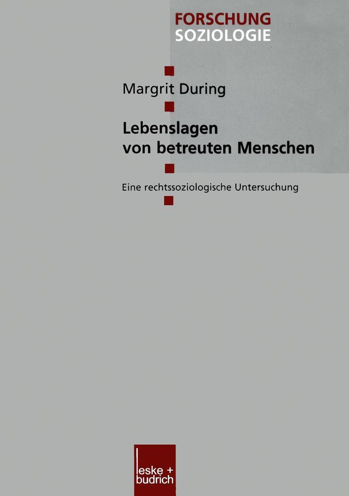 Lebenslagen von betreuten Menschen als Buch