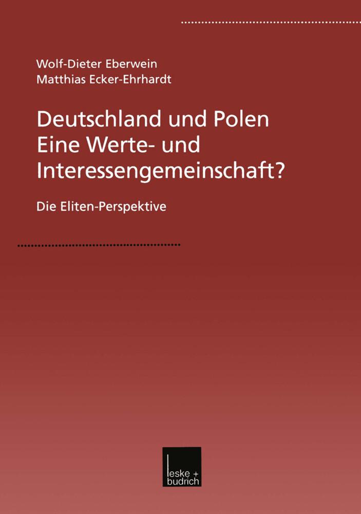 Deutschland und Polen - Eine Werte- und Interessengemeinschaft? als Buch