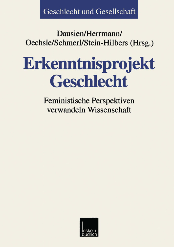 Erkenntnisprojekt Geschlecht als Buch