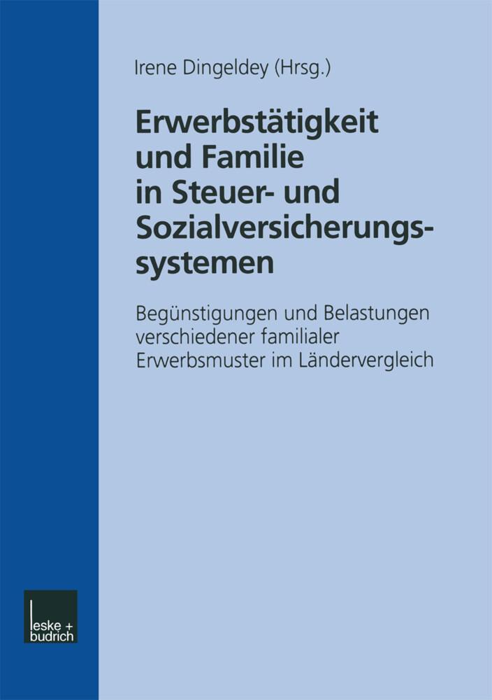 Erwerbstätigkeit und Familie in Steuer- und Sozialversicherungssystemen als Buch