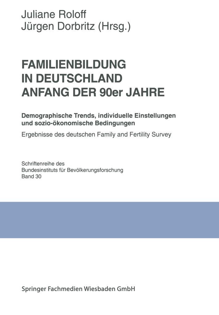 Familienbildung in Deutschland Anfang der 90er Jahre als Buch
