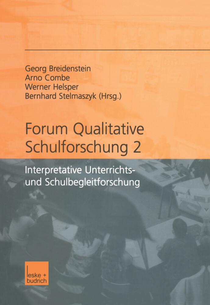 Forum qualitative Schulforschung 2 als Buch