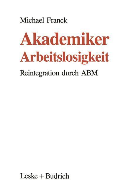 Akademiker-Arbeitslosigkeit als Buch