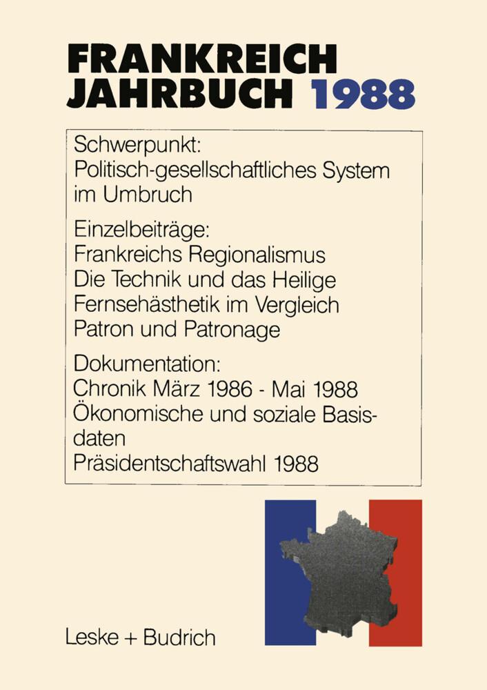 Frankreich-Jahrbuch 1988 als Buch
