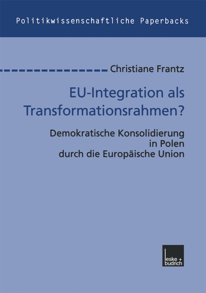 EU-Integration als Transformationsrahmen? als Buch