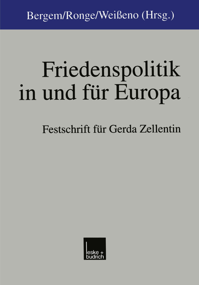 Friedenspolitik in und für Europa als Buch